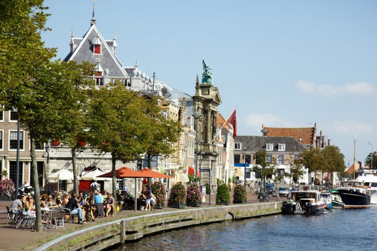 Haarlem Terrace along the river Spaarne